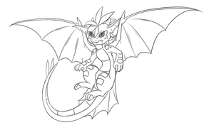 young dragon OC 1 quick sketch by LostTrackOf