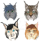Lynx family freebies from stream by Manulfacture