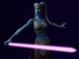 Aayla Secura by Ultrarender