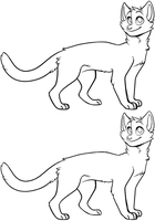 Cat base/lineart (+ MS Paint friendly) by Daisyvayle