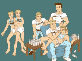 Fraternity babies - painted by BabyFran