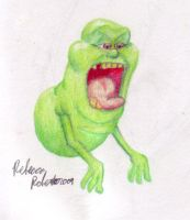 Slimer colored pencil test by catgir