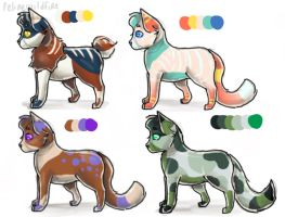 Adoptables by felinewildfire