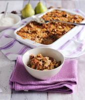 Pear and Rhubarb Crumble like Granddad use to make by AHealthMatter