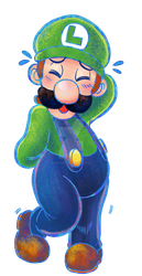 Bashful Luigi by SoVeryUnofficial
