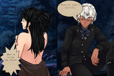Xelnos and Karyana, via Rinmaru by YurixTheWanderer