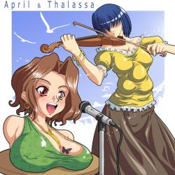 April and Thalassa by gamera1985