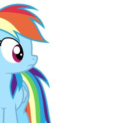Rainbow Dash Bemused by Pupster0071