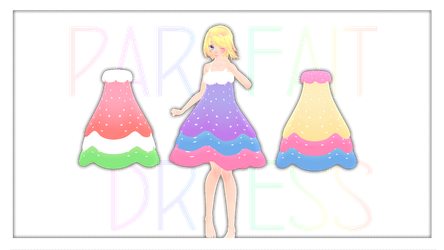 MMD Download : Parfait Dress DL by HoshichoM
