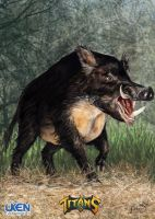 Uken-titans Mperry Giant-Boar by MikePerryArt