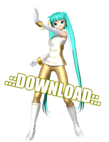 DT Gold Leader Miku .:DL::. by MegurineSempai