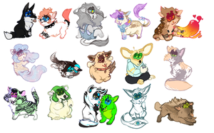 chibi commissionsss by arthrfist