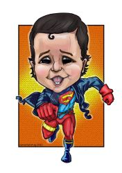 Superboy-caricature-purelibre by silifulz