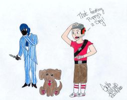 TF2: Puppy Spy Coloured by darkraven2116