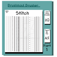 Illustrator stitch brush Part 1 by brushmad