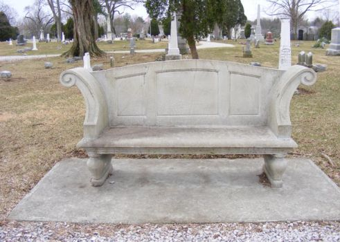 Cemetary Stone Bench 0309 2 by OsorrisStock