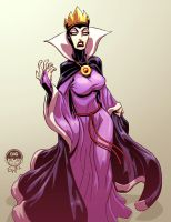 Evil Queen Snow White - Christmas Commission by EryckWebbGraphics