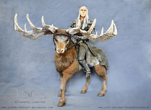 King of the Woodland Realm- Thranduil Sculpture by HiddenTreasury