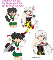 Sesshoumaru and Kagome by TheMadWoman-Ellie