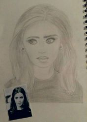 Art project   Lily Collins by Puzzled-Socks