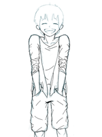 Boy Unfinished Orz by kencchi