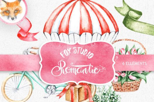 Romantic Watercolor Clipart