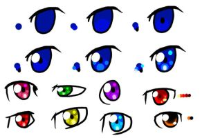 How I Color my Eyes by EchoArcher