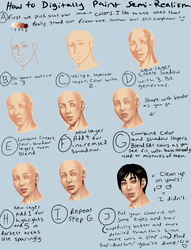 Digital Semi-Realism Skin Tutorial by TheComicStream