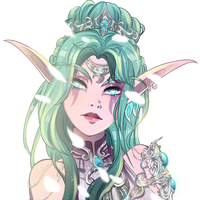 Tyrande with flowers by KirshiVanilla