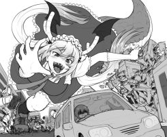 Miss Kobayashi goes for a relaxing drive by AlloyRabbit