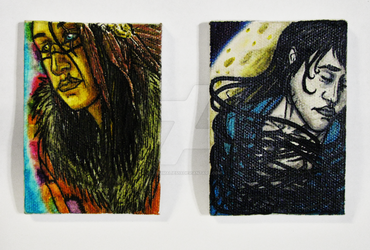 Demi and Nyte Mini Canvases by Anomalies13