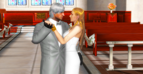 Happy wedding to Dante and Trish by WhiteKnightDante