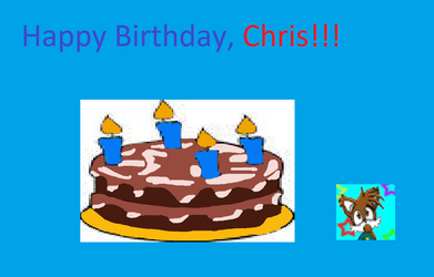Birthday Picture for Chris (BayMilesTailsPrower) by FramolianKing