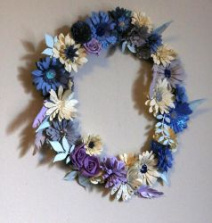 Quilled Flower Wreath by El-Sharra