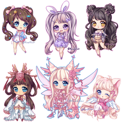 C: Teeny Tiny Chibi Batch 07 by KirasElixir