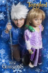 Jack Frost and Rapunzel by Qwaseer