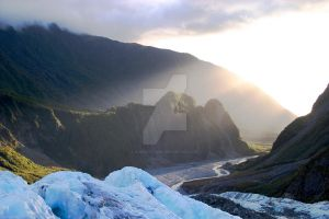NZ- Sunset at Fox Glacier by EJSCreations