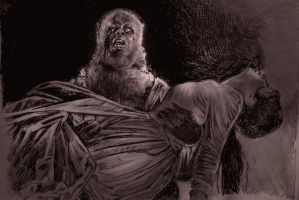 CURSE OF THE WEREWOLF  OLIVER REED A3 by Legrande62