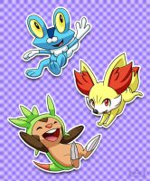 Kalos Starters by Red-Flare
