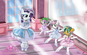Commission: Rarity's Ballet leason by AVCHonline