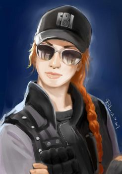 Ash in Rainbow Six Seige by RuqingL