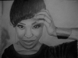 Shirley B Eniang Drawing by MsTemmii