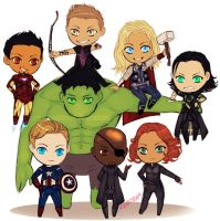 Chibivengers by Smooshkin