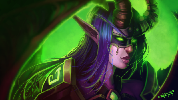 WoW - Legion - Demon Hunter Wallpaper by AtraElegie