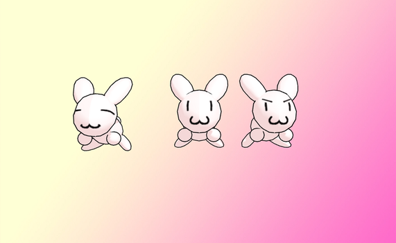 MMD Mel Mel Bunnys -for head- -UPDATE- by amiamy111