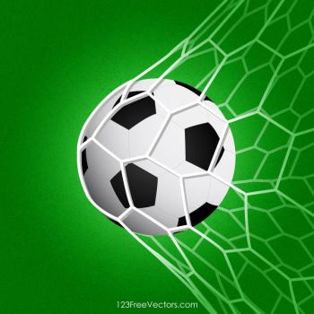 Soccer Ball in Net Free Vector by 123freevectors