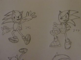 Sonic Sketches: 1 by SonicWindAttack