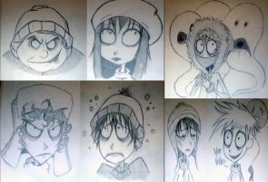 South Park: Tim Burton style by sugapiessofly