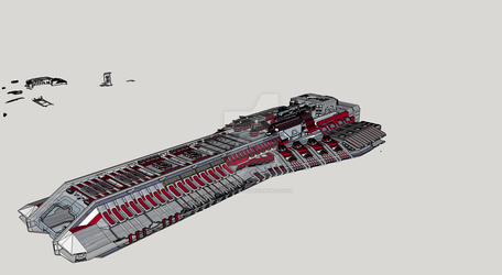 Carrier/ freighter spaceship model by Timeserver55