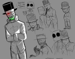 [Villainous Asylum] Sketches by owoSesameowo